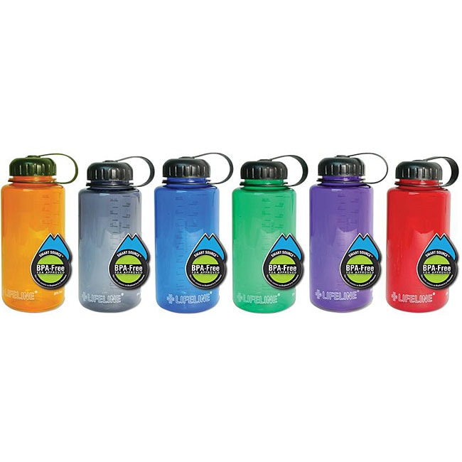 Lifeline First Aid BPA-free 32-oz Assorted Colors Plastic Water Bottles (Pack of 12) at Sears.com