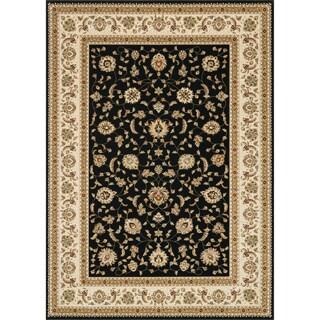 Primeval Black/ Ivory Oriental Rug (7'7 x 10'6)