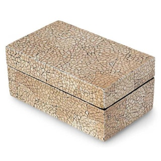 Eggshell Mosaic 'Radiant Earth' Decorative Box (Thailand)