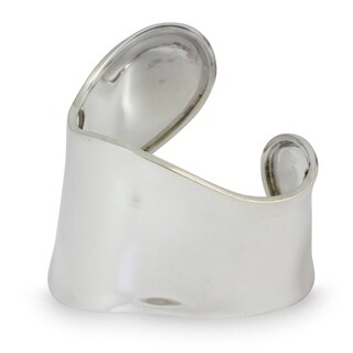 Sterling Silver 'Graceful' Cuff Bracelet (Thailand)