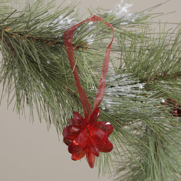 Red Acrylic Flower Hanging Ornament (India)