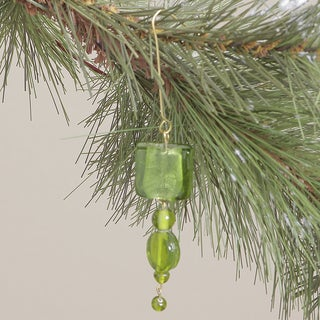 Green Glass Hanging Ornament (India)