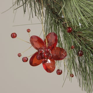 Single Red Flower Hanging Ornament (India)