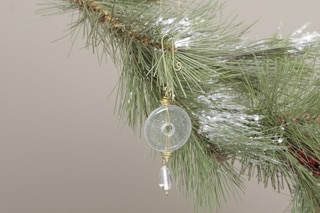 Clear Round Glass Ornament (India)