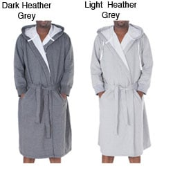 Alexander Del Rossa Men's Sweatshirt-style Bathrobe