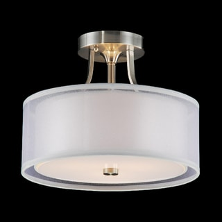 Altea 3-light Satin Nickel Flush Mount Chandelier