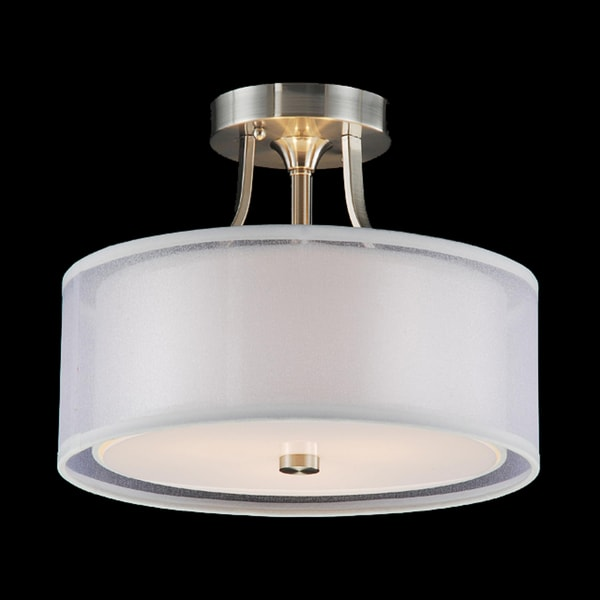 Altea 3 Light Satin Nickel Flush Mount Chandelier Ceiling Fixture Light Lighting Ebay