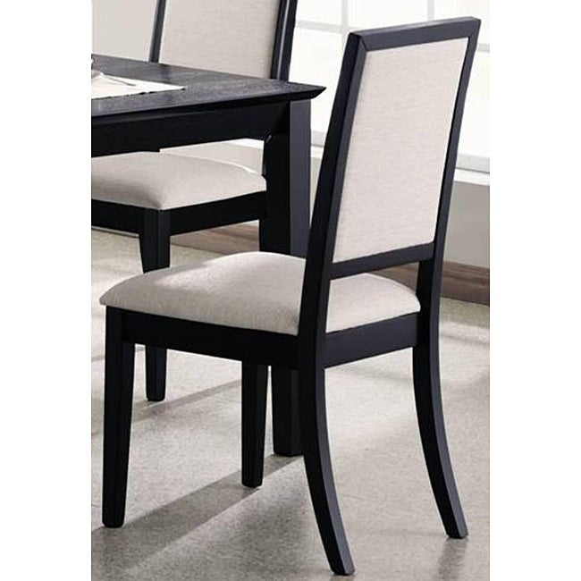 premier black dining chairs set of 2 room furniture modern style seat