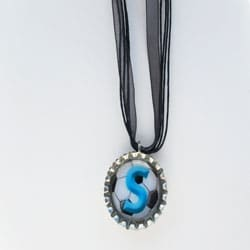 Soccer Ball  Monogram Bottle Cap Necklace