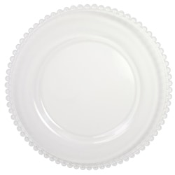 ChargeIt! by Jay Clear Beaded Glass Charger Plates (Set of 2)
