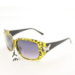 Women's P8124 Gold/Black Leopard Fashion Sunglasses