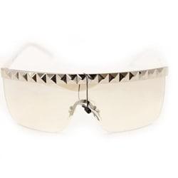 Women's F1900 White Rimless Sunglasses