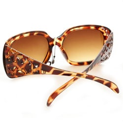Women's P10048 Brown Leopard Oversized Sunglasses