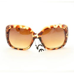 Women's P10048 Brown Leopard Oversized Sunglasses