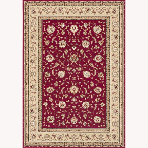 Primeval Red Oriental Rug (5'3 x 7'7)