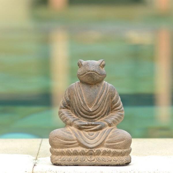 Volcanic Ash Meditating Frog Statue (Indonesia)