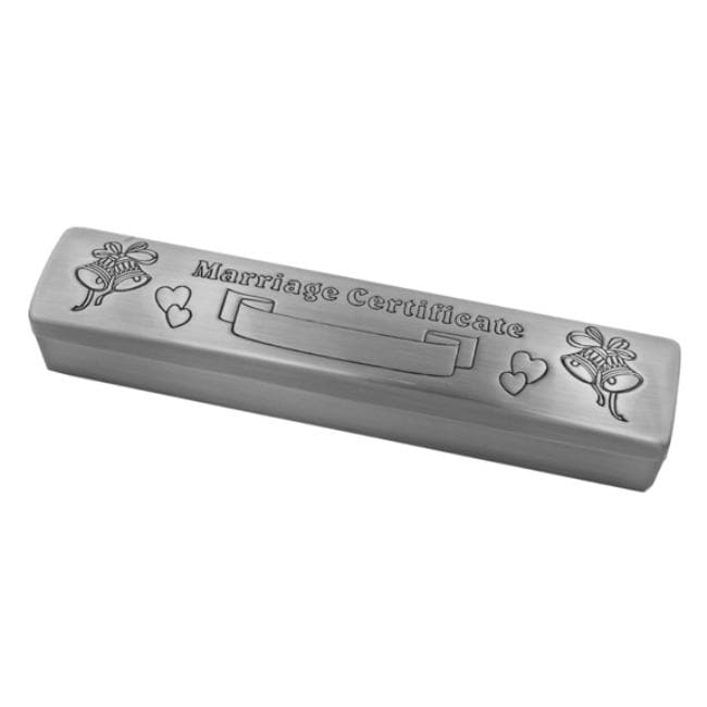 Pewter Marriage Certificate Holder