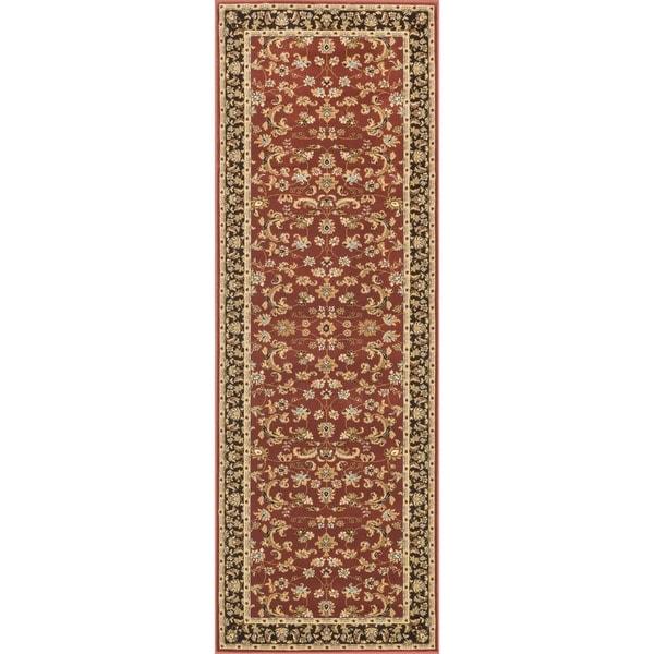 "Primeval Red Oriental Rug (2'8 x 7'7"")"