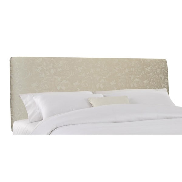 Skyline Furniture Lindsey King Headboard Upholstered in Parchment Damask