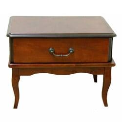 Corellia Dark Brown Oak Side Table