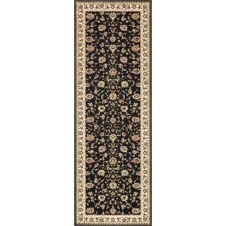 Primeval Black/ Ivory Oriental Rug (2'8 x 7'7)