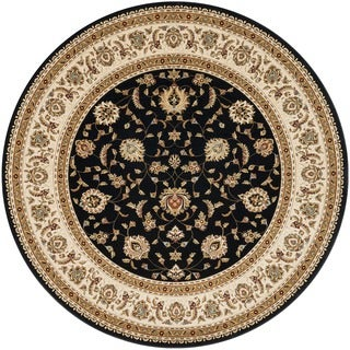 Primeval Black Oriental Rug (7'7 Round)