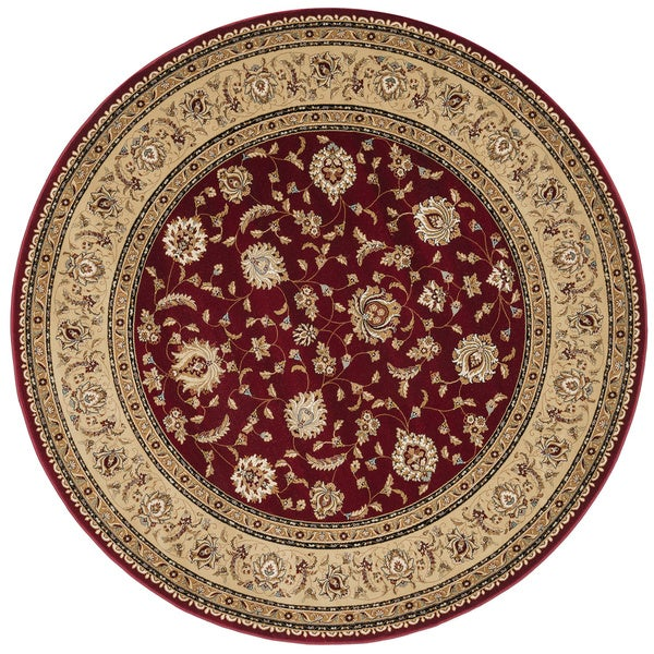 Primeval Red Oriental Rug (7'7 Round)