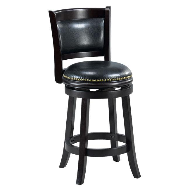 Alexis Cappuccino Padded Back 24-inch Counter Stool - 13344944 ...