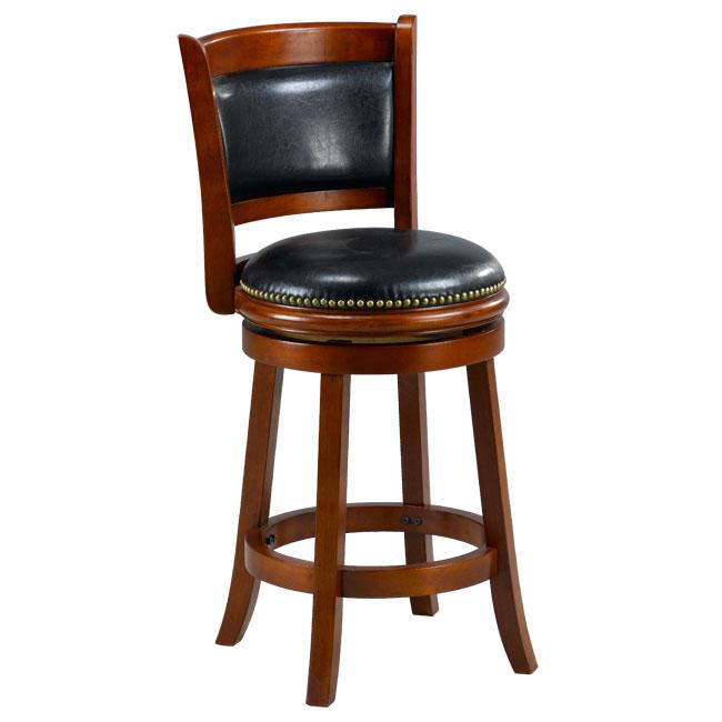 Alexis Cherry Padded Back 24-inch Counter Stool