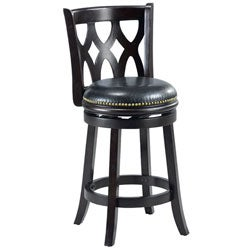 Valencia Cappuccino Triple Crossback 24-inch Counter Stool