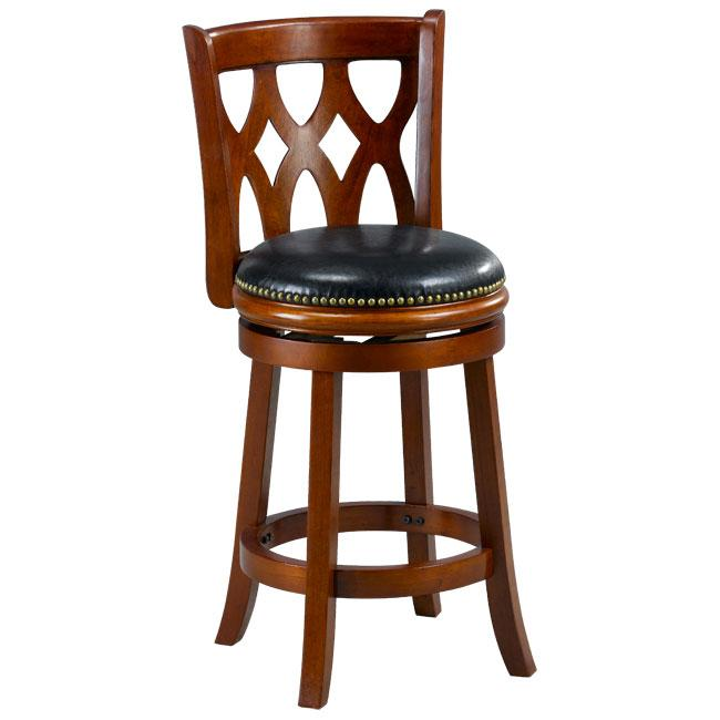 Valencia Cherry Triple Crossback 24 Inch Counter Stool