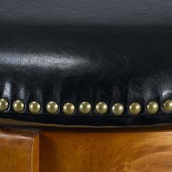 Jackson Bicast Leather Dark Oak Counter Stool