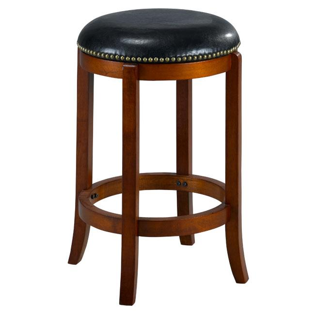 Jackson Bicast Leather Cherry Swivel Counter Stool