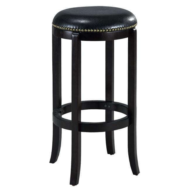 Jackson Bicast Leather Swivel Cappuccino Bar Stool