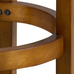 Jackson Bicast Leather Dark Oak Counter Stools (Set of 2)