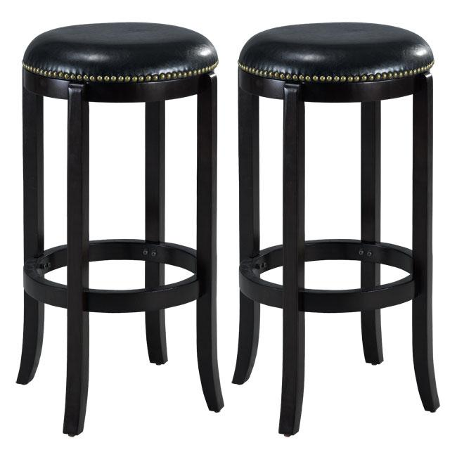 Jackson Bicast Leather Cappuccino Bar Stools (Set of 2)