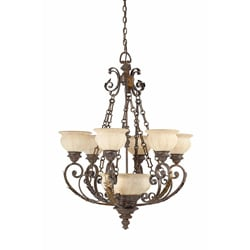 Kordoba 9-light Roman Bronze Chandelier