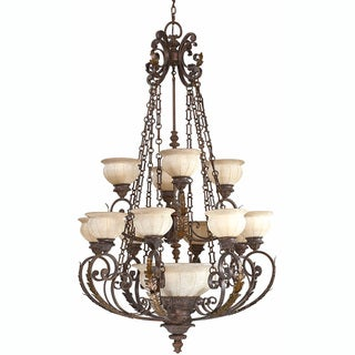 Kordoba 16-light Roman Bronze Chandelier