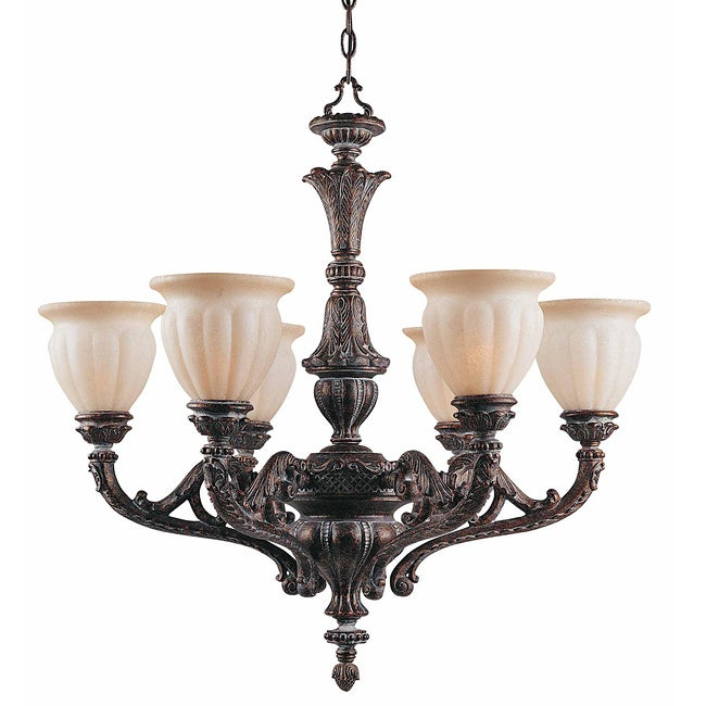 Sultan 6-light Bronze Oro Chandelier