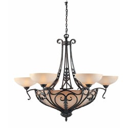 Passion 12-light Bronze Oro Chandelier