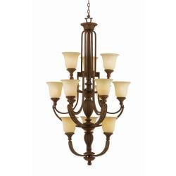 Ambassador 12-light Morrocan Bronze Chandlelier