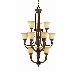 Ambassador 12-light Morrocan Bronze Chandlelier