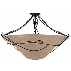 Whisper 6-light Blacksmith Bronze Semi-flush Fixture