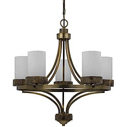 Travertino 5-light Burnished Brass Chandelier