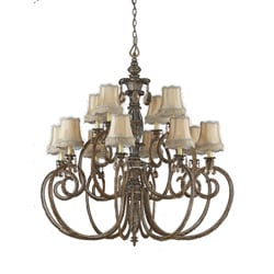 Mardis Gras 12-light Antique Pewter Chandelier