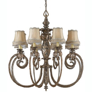 Mardis Gras 8-light Antique Pewter Chandelier