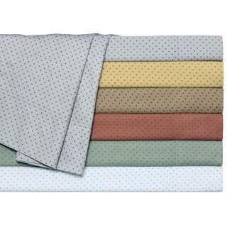 Carlton Printed Dot King or Cal King-size Sateen Sheet Set