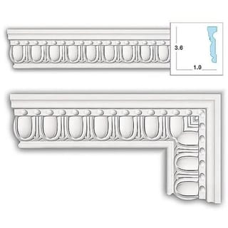 Egg and Bead 3.625-inch Case Molding (8 pieces)