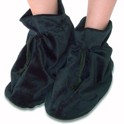 Sooth�ra Black Furry Plush Spa Slippers