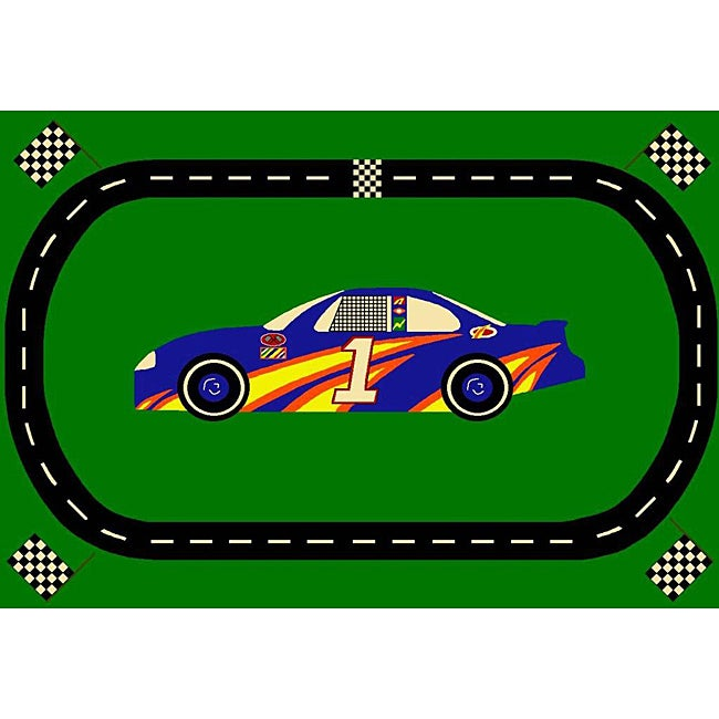Sports Time Race Car Rug (3'3 x 5')